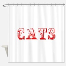cats-Max red 400 Shower Curtain