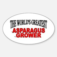 """The World's Greatest Asparagus Grower"" Decal"