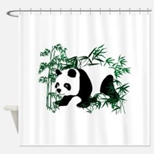 Panda Bear on the Prowl Walking in Shower Curtain