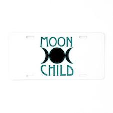 Moon Child Aluminum License Plate