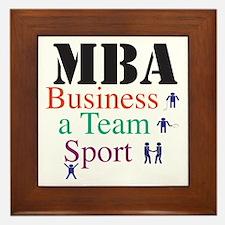 MBA Team Sport Framed Tile