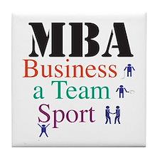 MBA Team Sport Tile Coaster