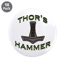 "Thors Hammer 3.5"" Button (10 pack)"