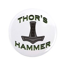 "Thors Hammer 3.5"" Button"