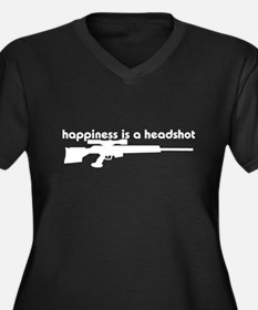 Happiness is a Headshot Women's Plus Size V-Neck D