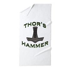 Thors Hammer Beach Towel