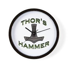 Thors Hammer Wall Clock