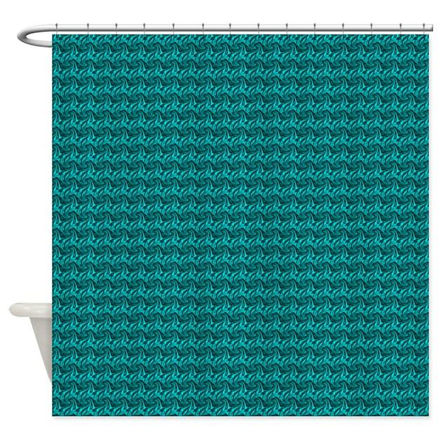 Decorative Teal Shower Curtain By Decorativedecor