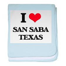 I love San Saba Texas baby blanket