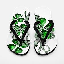 Happy St Patricks Day Shamrocks Flip Flops