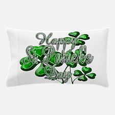 Happy St Patricks Day Shamrocks Pillow Case