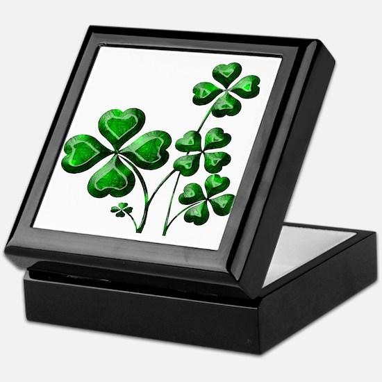 St Patrick Shamrocks PD Keepsake Box