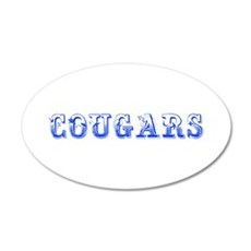 Cougars-Max blue 400 Wall Decal