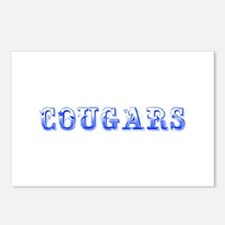 Cougars-Max blue 400 Postcards (Package of 8)