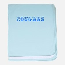 Cougars-Max blue 400 baby blanket