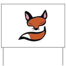 Fox Head & Tail Yard Sign