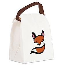 Fox Head & Tail Canvas Lunch Bag
