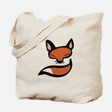 Fox Head & Tail Tote Bag