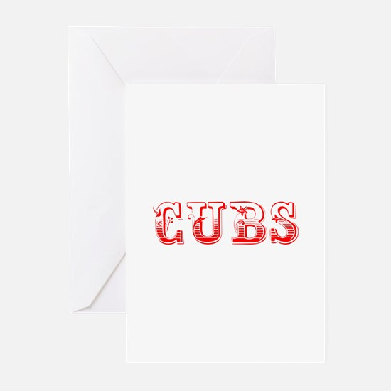 Cubs-Max red 400 Greeting Cards