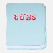 Cubs-Max red 400 baby blanket