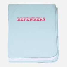 Defenders-Max red 400 baby blanket
