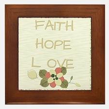 Faith Hope Love Framed Tile