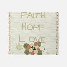 Faith Hope Love Throw Blanket