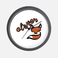 Clever Fox Wall Clock