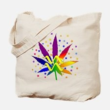 Rainbow Marijuana Aquarius Tote Bag