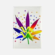 Rainbow Marijuana Aquarius Rectangle Magnet