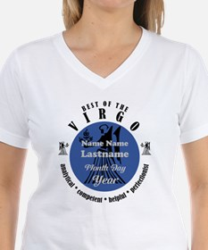 Custom Text Virgo Horoscope Zodiac Sign T-Shirt