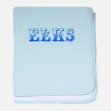 Elks-Max blue 400 baby blanket