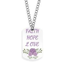 Faith Hope Love Dog Tags