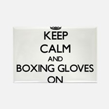 Keep Calm and Boxing Gloves ON Magnets