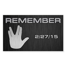 SPOCK REMEMBER Decal