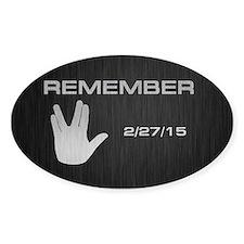 SPOCK REMEMBER Bumper Stickers