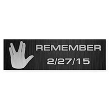 SPOCK REMEMBER Bumper Sticker
