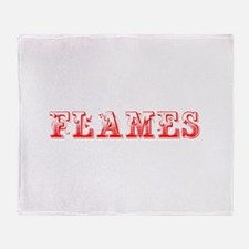 Flames-Max red 400 Throw Blanket