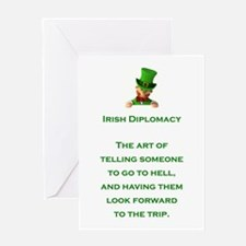 IRISH DIPLOMACY Greeting Card