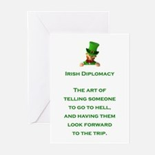 IRISH DIPLOMACY Greeting Cards (Pk of 10)