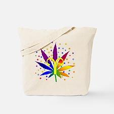 Rainbow Marijuana Aries Tote Bag