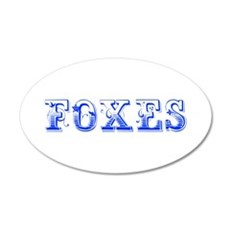Foxes-Max blue 400 Wall Decal