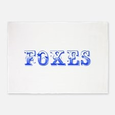 Foxes-Max blue 400 5'x7'Area Rug