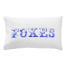 Foxes-Max blue 400 Pillow Case