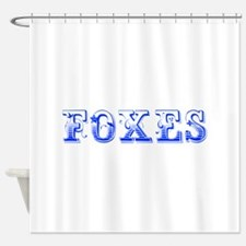 Foxes-Max blue 400 Shower Curtain