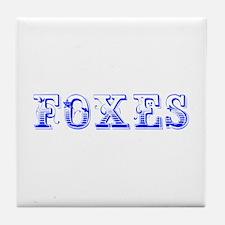 Foxes-Max blue 400 Tile Coaster