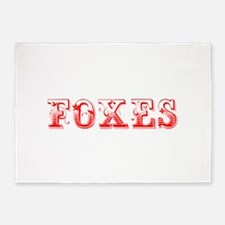 Foxes-Max red 400 5'x7'Area Rug