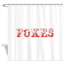Foxes-Max red 400 Shower Curtain
