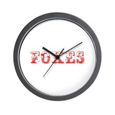 Foxes-Max red 400 Wall Clock
