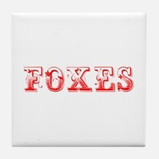 Foxes-Max red 400 Tile Coaster